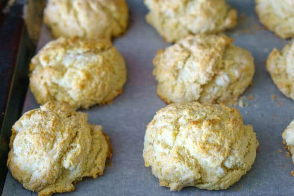 The finished drop biscuits.