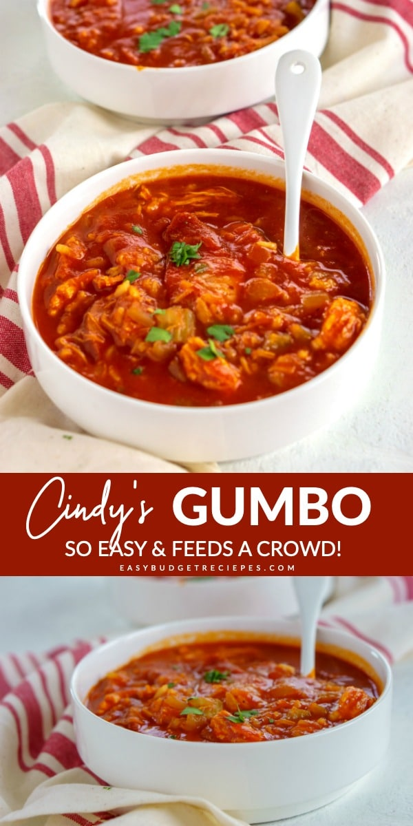 This Sausage Gumbo recipe is quick, easy, and feeds a crowd. It serves 8 people, costs $12.46 to make and just $1.56 per serving. via @easybudgetrecipes