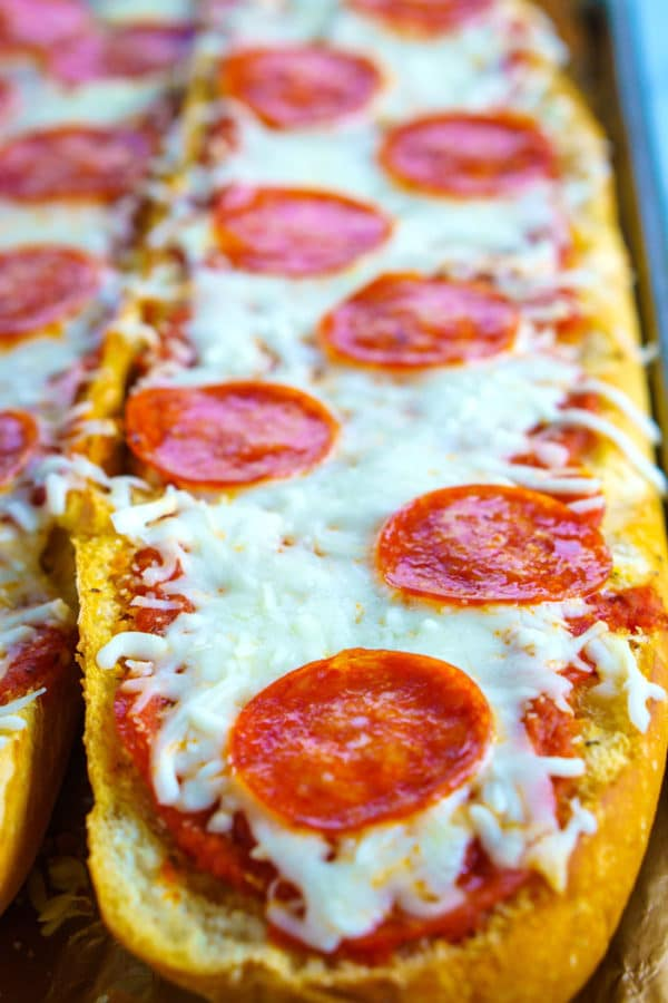 Pepperoni French Bread Pizza Easy Budget Recipes
