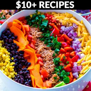 Recipes that cost $10+ to make.
