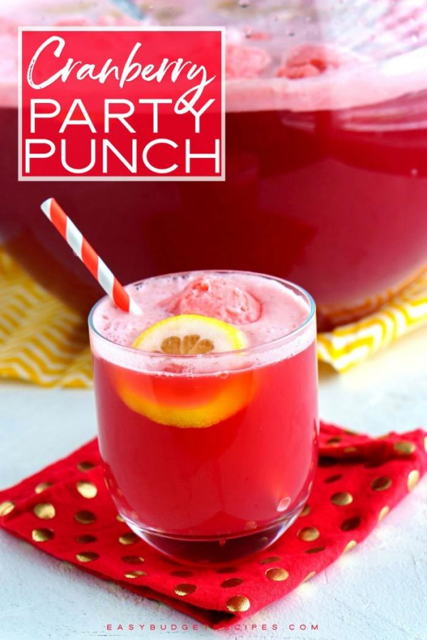 Finished punch with text overlay for Pinterest.