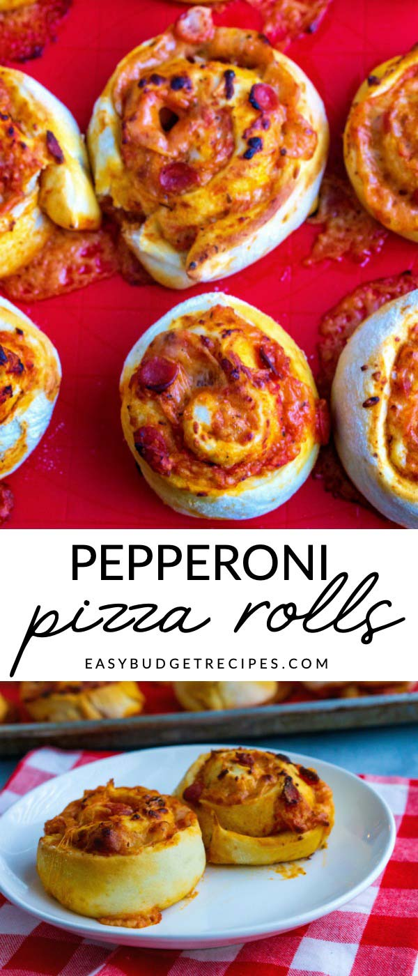 Make something different for pizza night with these homemade Pepperoni Pizza Rolls. This recipe will serve 12 people and costs just $0.99 per serving to make! via @easybudgetrecipes