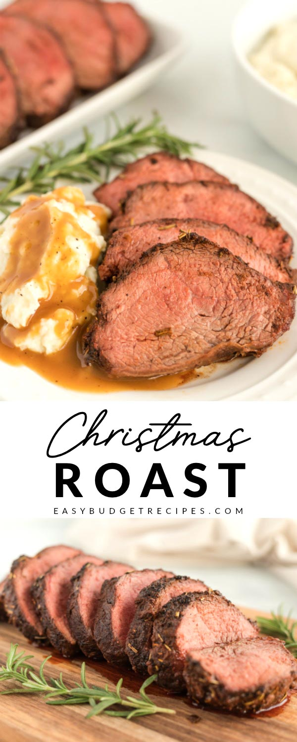 This Christmas Beef Chuck Roast Recipe is juicy, tender, and packed with great flavor thanks to the rub and brown gravy made with the pan drippings.  via @easybudgetrecipes