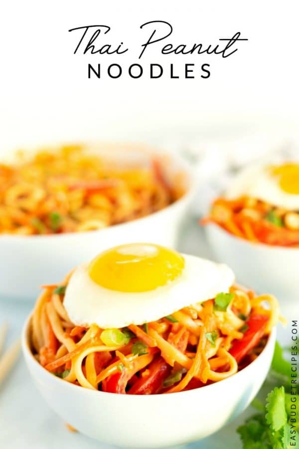 Noodles with text overlay for Pinterest.