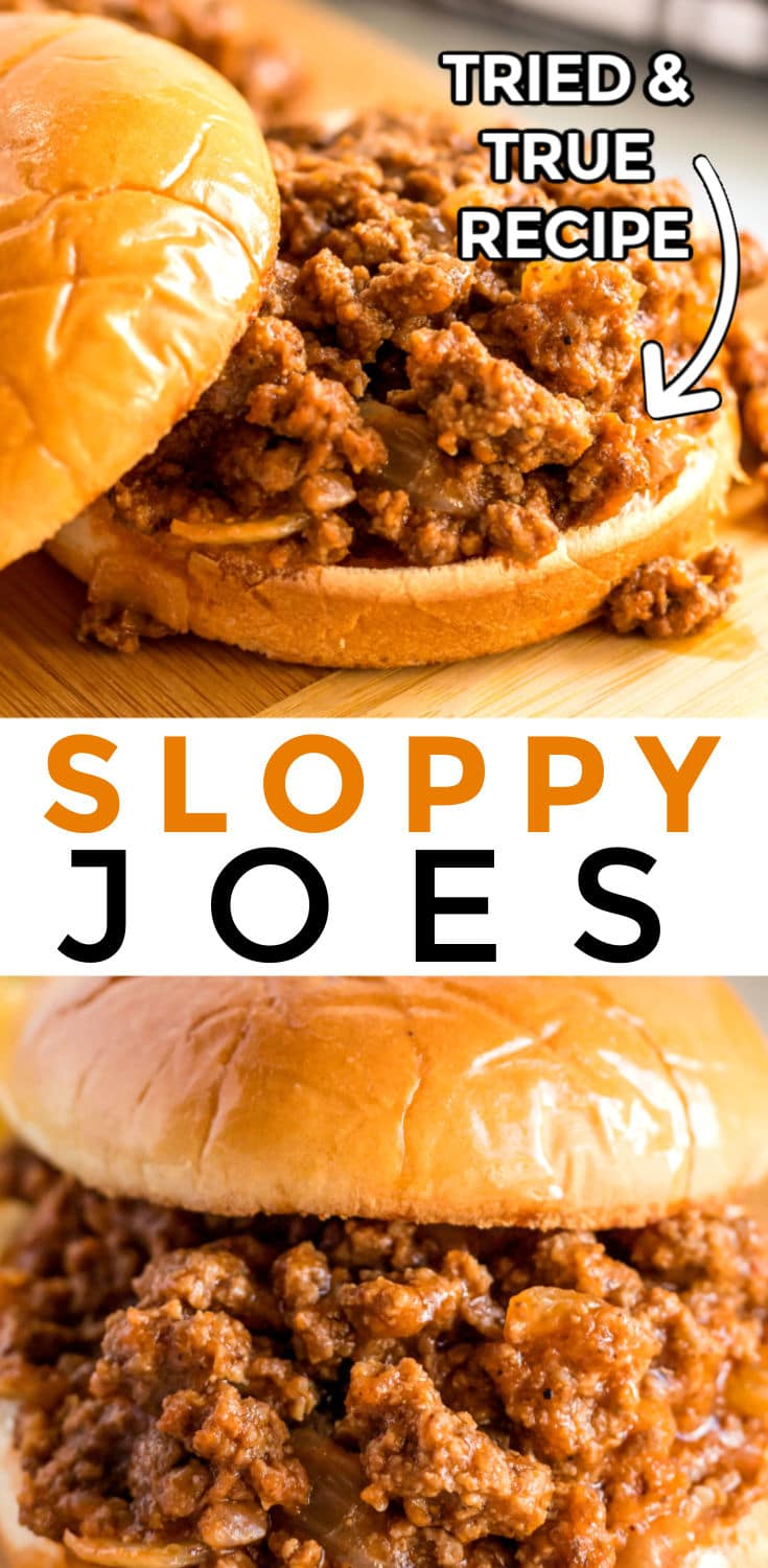 Homemade Sloppy Joes is a classic dinner recipe that is easy to make and economical too! It takes less than 30 minutes to make and costs just $9.34 for a serving of 6! That's just $1.56 per serving!  via @easybudgetrecipes