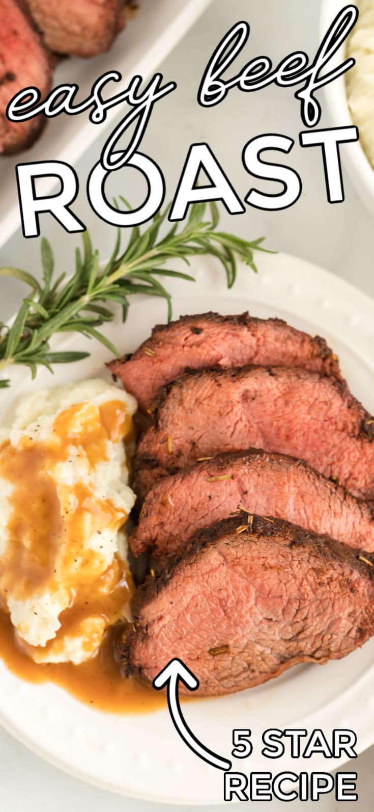 This Beef RoastRecipe is juicy, tender, and packed with great flavor thanks to the rub and brown gravy made with the pan drippings. via @easybudgetrecipes