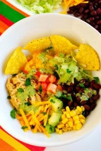 Overhead picture of Mexican Chicken Bowl.