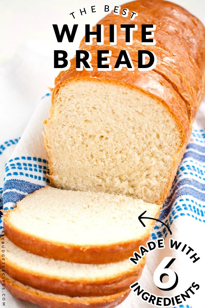 This Homemade White Bread Recipe simply the best and my family devours it. Luckily this recipe makes 2 large loaves and costs $2.34 to make. That's just 7¢ per serving!  via @easybudgetrecipes