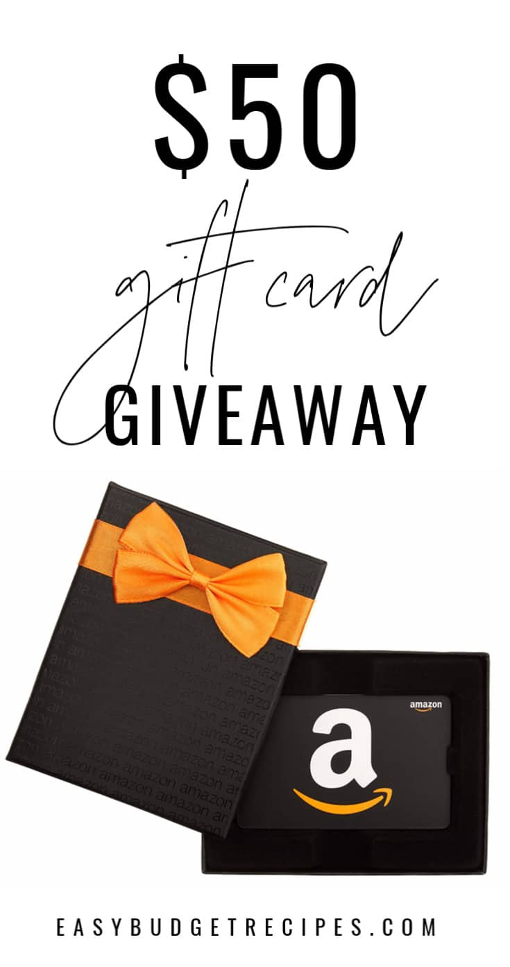 Enter to win our $50 Amazon Gift Card Giveaway. Come enter between April 16-23. This giveaway is open to US and Canadian residents. via @easybudgetrecipes