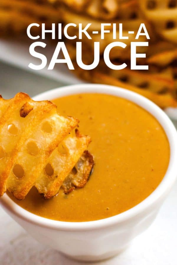 Chick Fil A Sauce with text overlay for Pinterest.