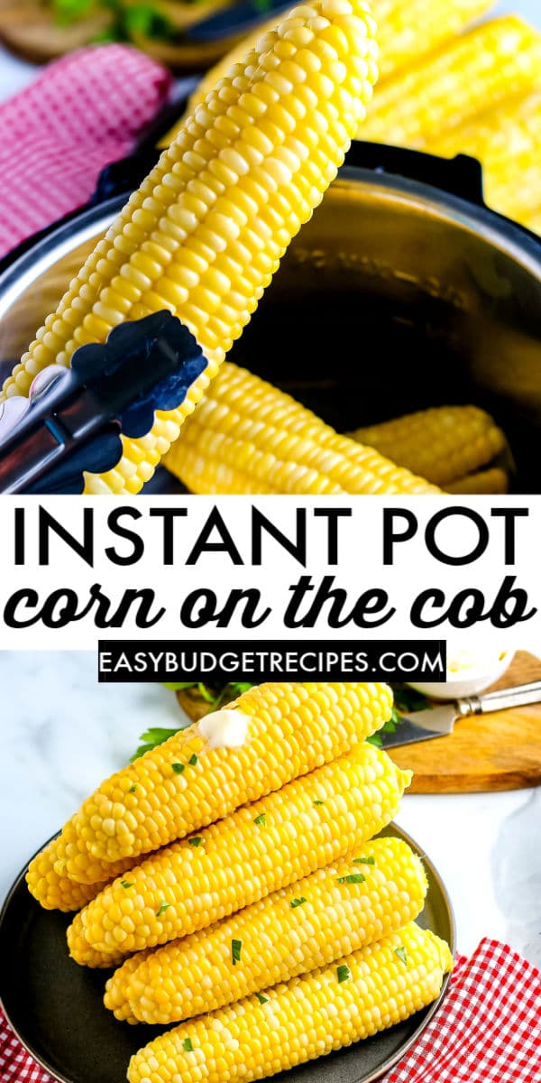 Corn on the cob is a side dish staple, especially during the summer. This is an easy Instant Pot recipe that is ready, from start to finish, in just 20 minutes!  via @easybudgetrecipes