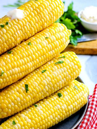 A pile of Instant Pot Corn on the Cob.