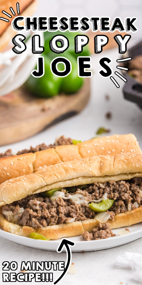 This Philly Cheesesteak Sloppy Joes recipe is easy to make and ready in 20 minutes. These cheesesteaks are some serious comfort food that the entire family will love! via @easybudgetrecipes