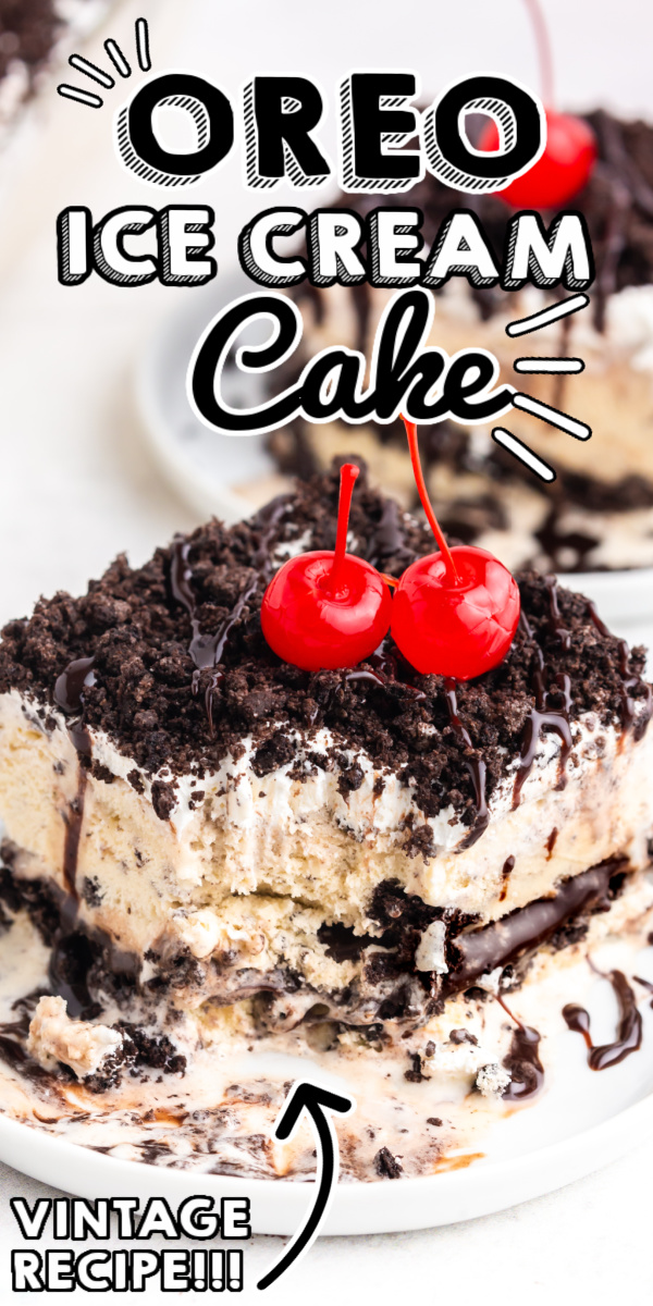This Oreo Ice Cream Cake recipe is a no-bake layered dessert made with ice cream, Oreo cookies, hot fudge, and Cool Whip. This is one of Beth's most requested recipes!  via @easybudgetrecipes