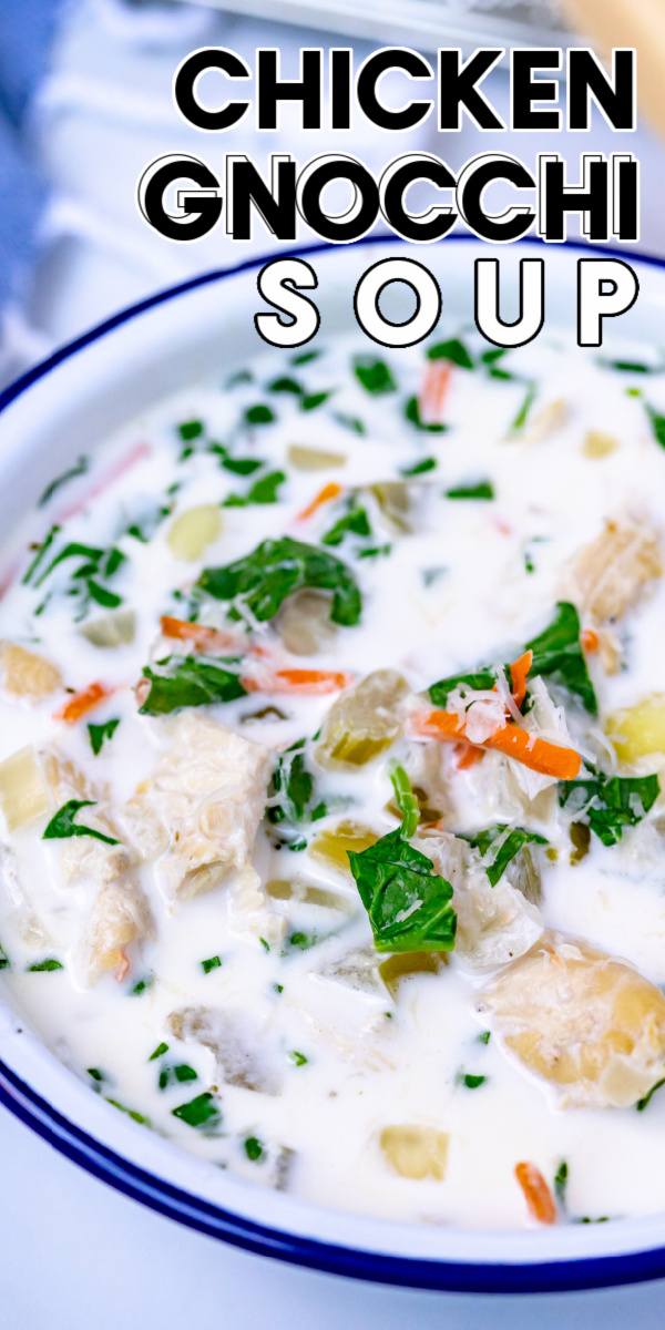 Our Slow Cooker Chicken Gnocchi Souprecipe is a creamy and delicious Olive Garden copycat recipe that the entire family will love! via @easybudgetrecipes