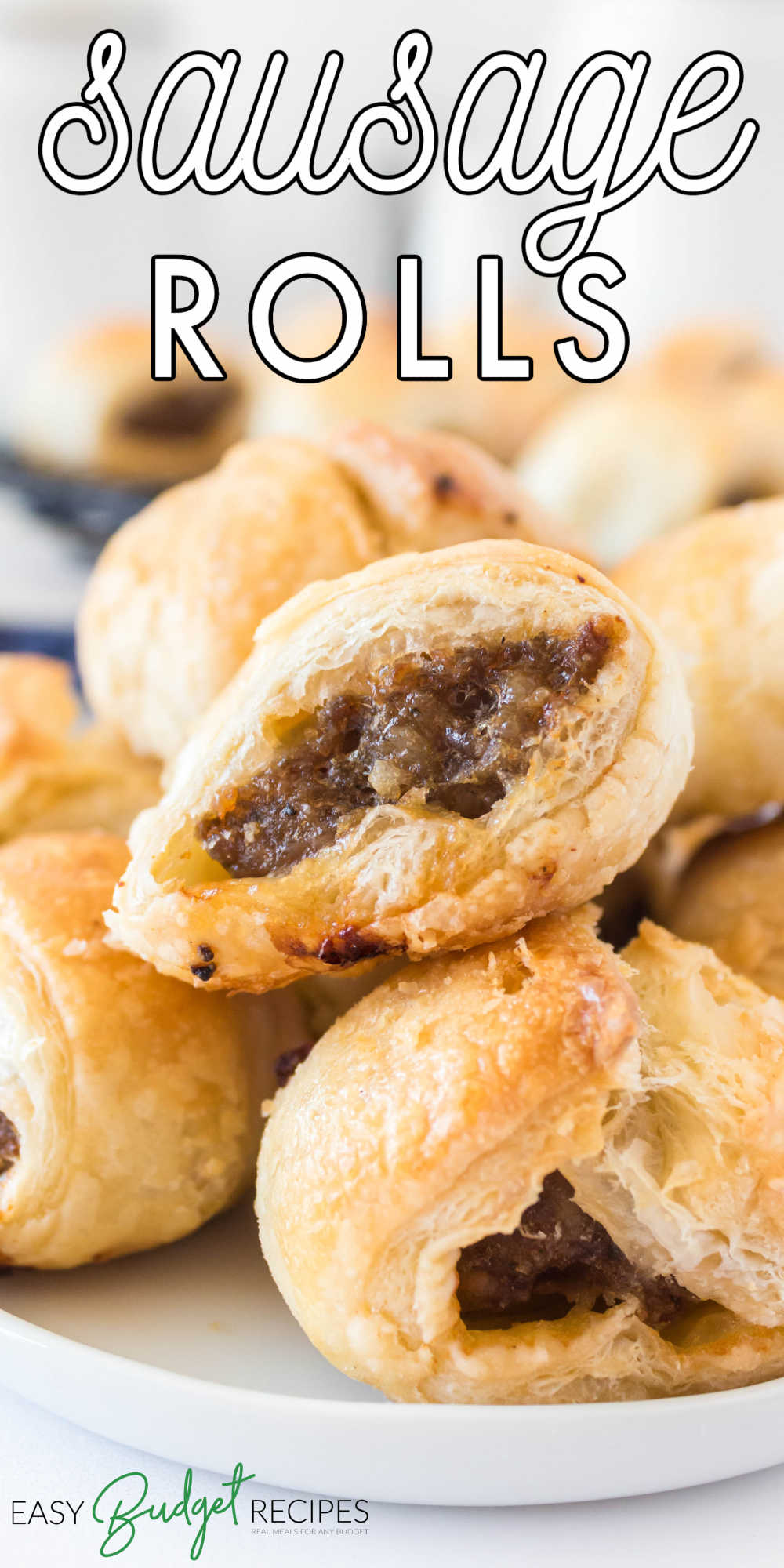Our Sausage Rolls recipe is a variation of the classic British sausage roll. We make our recipe easier by using store-bought puff pastry dough. via @easybudgetrecipes