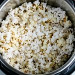 An overhead picture of popcorn in an Instant Pot.