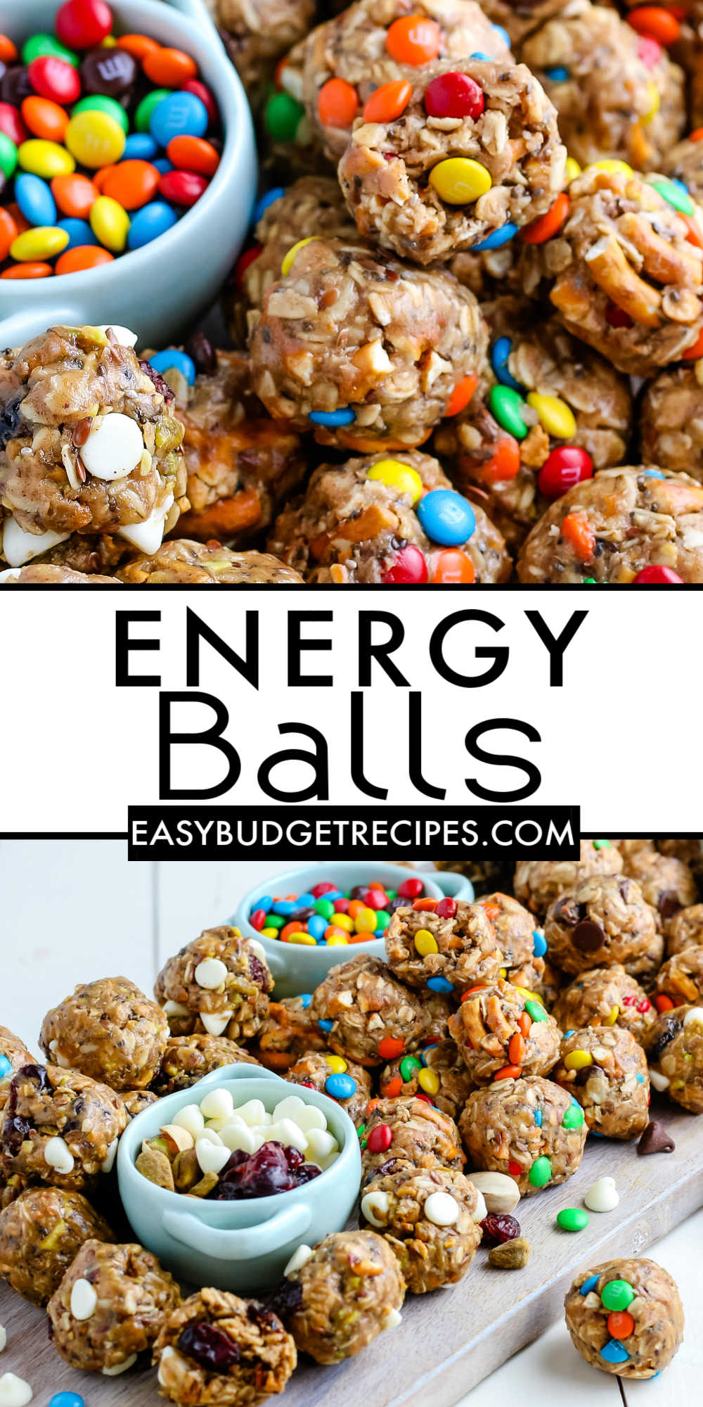 This Energy Balls recipe is so easy to make and full of delicious ingredients. Our recipe includes 3 different flavor variations that you'll love snacking on all of them. via @easybudgetrecipes