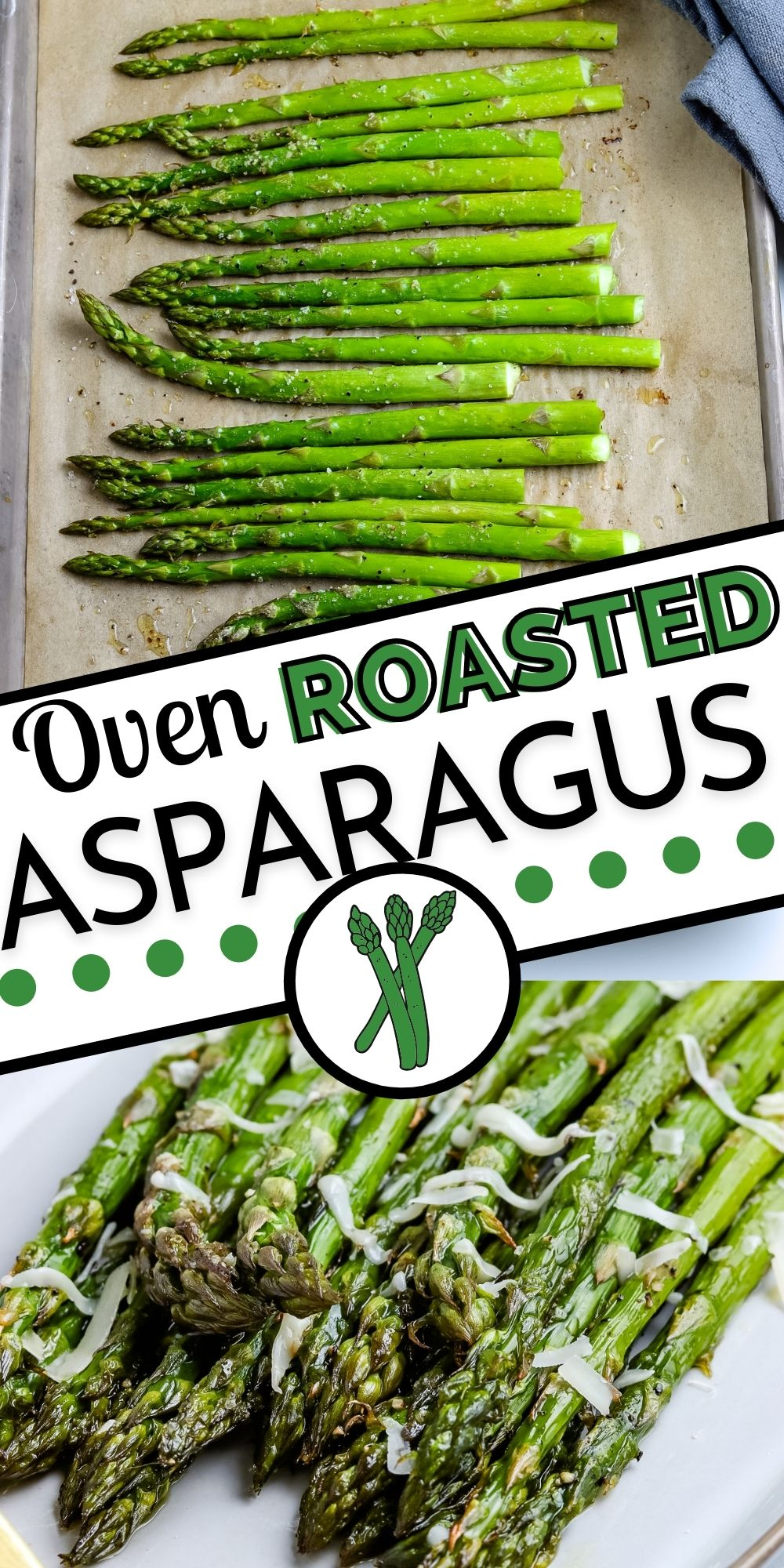 Making asparagus in the oven takes just 20 minutes total. It's an easy and delicious side dish that's perfect for spring and Easter dinner. via @easybudgetrecipes
