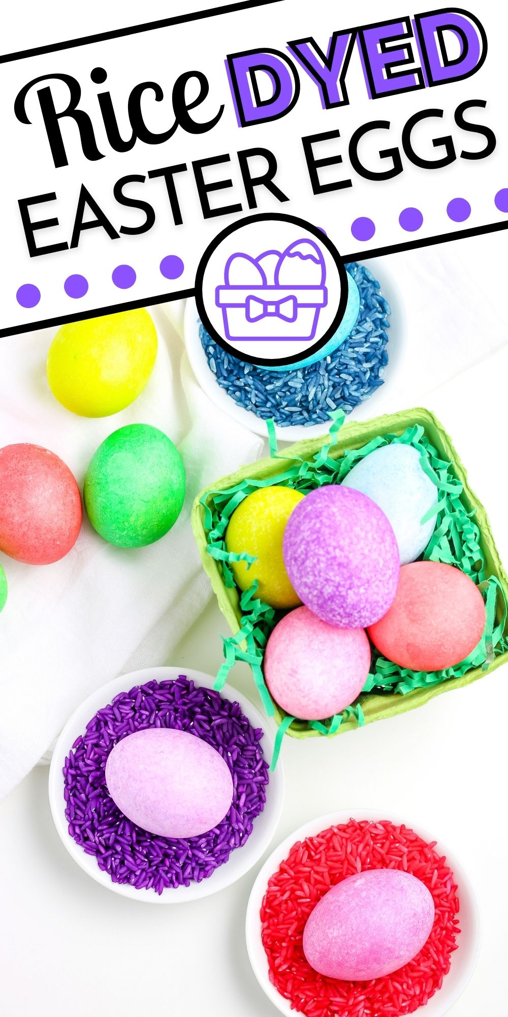 In this easy tutorial, we show How to Dye Easter Eggs with Food Coloring and Rice. To do so, you'll need hard-boiled eggs, rice, and food coloring. via @easybudgetrecipes