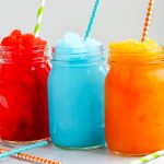 Three Copycat Sonic Slushes lined up next to each other.